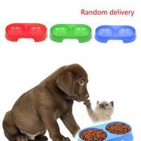 2014 hot saling 22cm Pet Feeding/Watering Double Supplies Dog Bowl Melamine Plastic Food Bowl retail