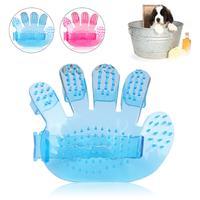 High quality Plastic Hand Shape Pet Dog Cat Grooming Bath Massage Rakes Brush Comb Cleaner Massager