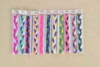 100Pcs/Lot 3 Ropes 4 Ropes Braided Polyester HeadBands for Women Girls Head Ribbon  Free Shipping