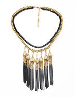 exotic bijou collar collier colar long tassel double layers gold ouro decent stunning style free shipping gift for mujer hollow
