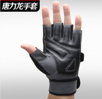 New 2015 WHO Fitness gloves sports apparatus dumbbell barbell fingerless flanchard lengthen wrist support