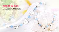 2014 New Anime Jewelry Miyazaki Hayao Totoro Anime bracelet 925 sterling silver bracelets for women Cosplsy model Christmas gift