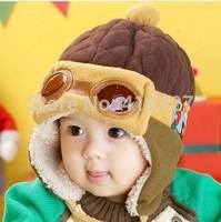 2014 Fashion Winter Autumn child hat baby boy ear protector cap pocket hat baby girl hats pilot cap kids cap 10pcs/lot