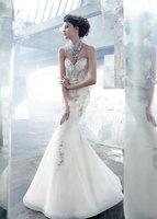 Fashionable Sweetheart Sleeveless Sexy Mermaid Wedding Dress Exqusite Beading vestidos de novia 2014 Organza Wedding Dresses