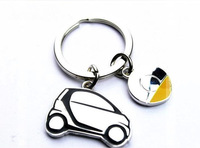 Stainless Steel Smart Car Key Chain, smart fortwo, 451