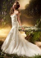 vestido de noiva sereia Fashionable Mermaid Wedding Dress Strapless Floor-length Court Train Wedding Dresses Plus Size Woman