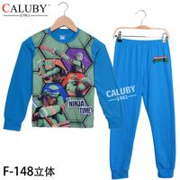 Teenage Mutant Ninja Turtles Boys Pajamas Children Cartoon Pyjamas Sleepwears 5sets/Lot For Big Boy 8-12Y In Stock Free Shipping