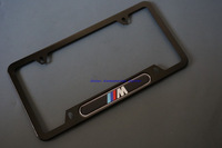 2014 hot! New Aluminium License Plate Frame For BMW M Black #2BL car styling