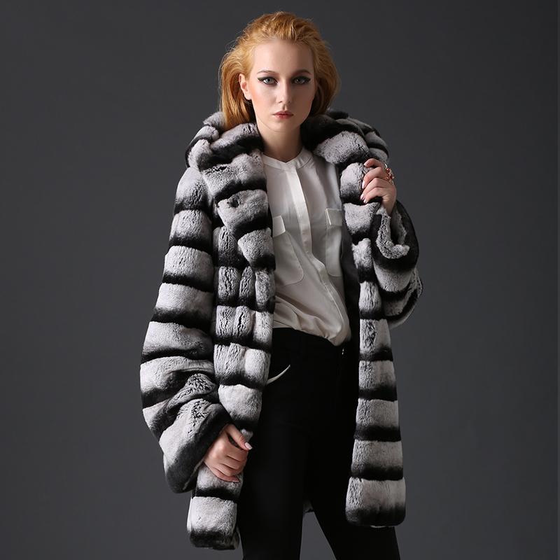 Chinchilla Rabbit Fur Coat Chinchilla Rex Rabbit Fur