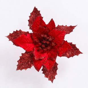 17 cm Gold & SIlver & Red Christmas Tree Ornaments 3 Layers Christmas Simulation Flower 10 g(China (Mainland))