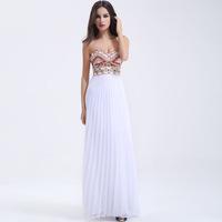 2014 Sexy Chiffon Vestidos Gala Fiesta Dresses Allure Evening Dress Toast Clothing Moderator Prom Dresses Long Skirt Sexy Dress