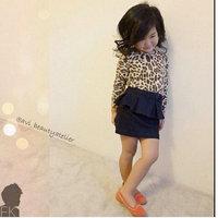 7set/lot wholeslae leopard long sleeve kids shirt denim skirt 2pcs set gril clothes ,spring autumn  child clothes