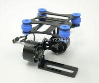 Ahock-absorbing DJI Phantom Gopro 2 3 CNC Metal Brushless Camera Gimbal Frame (balck)