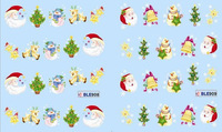 WATER STICKER FOR CHRISTMAS Snow  Snowflakes Snowman Design PK OF 40 NAIL ART WATER TRANSFER DECALS STICKERS 'BLE122-132',#11