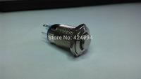 Free shipping 16 mm/flat metal push button switch round/locking / 2 no2nc/waterproof/life/door/pin