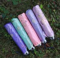 new Sun umbrella ruffle princess umbrella UV super sun  umbrella eiffel tower Manually Umbrella