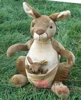 Authentic NICI Stuffed Plush Toy Simulation Kangaroo and Baby Soft Fun Doll Sitting 45cm Children birthday and Christmas  Gift