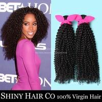 3 Bundles Malaysian Virgin Hair Kinky Curly Natural Black 6A Unprocessed Human Hair Weave Grace Hair Products Modern Show Hair