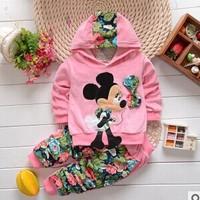 2014 New Autumn Fashion Kids Cartoon Design Cotton Hooded Full Sleeve baby Clothing Set babi Suit A182