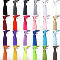High Quality Wholesale&Retail 24 Colors Solid Men's Tie Necktie Business Party Wedding Gift Drop Shipping