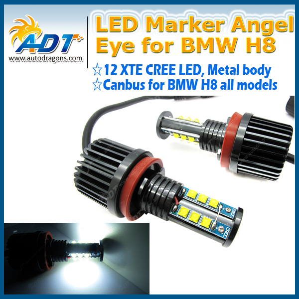 H8 Led Cree 120W LED Angel Eyes for BMW E87 E82 E92 E93 E70 E71 E90 E91 E60 E61 E63 E64 LED Marker car angel eyes light bulb(China (Mainland))