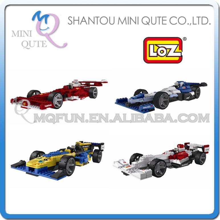Mini Qute 4 styles selectable 3D F1 formula car loz diamond nano block plastic cube building blocks bricks educational toy game(China (Mainland))