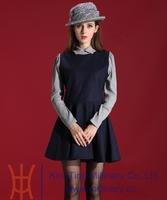 Free Shipping 2014 New and Fashion Women Elegant Autumn Dress Slim Girls Long Sleeve Short Dresses For Women Winter