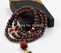 Purple meditation mala 6mm*108pcs prayer beads lotus pendant bracelet necklace