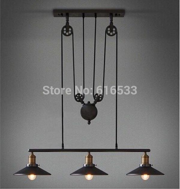 Keuken Plaat Kopen : Industrial Pulley Pendant Light