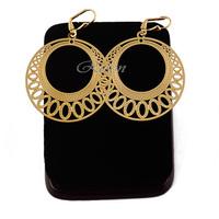 1pair Women LadiesYellow Gold Filled Drop Earrings 18K Wedding Jewelry E284