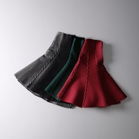 2014 autumn pleated skirt bust skirt princess  knitted sheds female South Korea's foreign trade of the original single