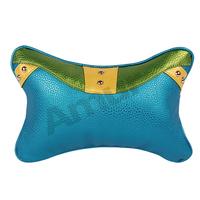 Amur 2pcs Blue business Car Neck head Rest Cushion Mesh fabric Cotton filler Pillow