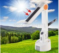 FREE SHIPPING Novelty product Multi-functional LED solar table lamp,solar rechargeable LED flashlight, FM Radio