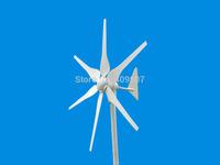 1pcs 6 blades DC12V 24V wind generator 300w garden windmill wind turbine for house