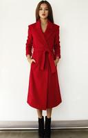 European and American fashion long coat Slim new winter jacket coat female