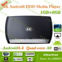 100% Original Amlogic Quad Core S812 TV Box H.265 HEVC 4K2K UHD XBMC 1G/8G Cortex A9 Android4.4 Bluetooth 4.0 HDMI Free shipping