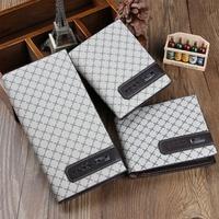 Hot Selling Fashion Man Male Gentleman Leather Bifold Cards Holder Long Short Wallet Billfold Suit Bag 7 Tpes