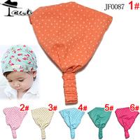Children Accessory Hot Sale Fashion Infant Headwear Cotton Baby Headwears Kids Blue Green Color Dot Print Boys Headbands JF0087