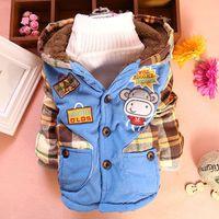 Kids winter 2014 Korean version of the little monkey boy coat plus velvet thick cotton children