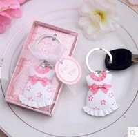 2014 new best baby shower favor baby clothes key chain key ring kids birthday gifts guest souvenirs keepsake party supplies