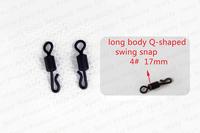 200pcs 4# large long body Q-Shaped Fishing swing snap carp terminal fishing tackle carp fishing accessories