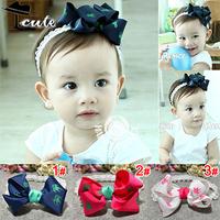 Kids Hair Accessories High Quality Lowest Price Beautiful Baby Girl headwears Big Bowknot Knight Print Children Headbands JF0091