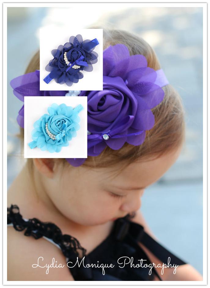 Fashion headbands for baby child elastic ribbon headband hairband 67,accessories fish squama pearl retail 1 pcs cheap price(China (Mainland))