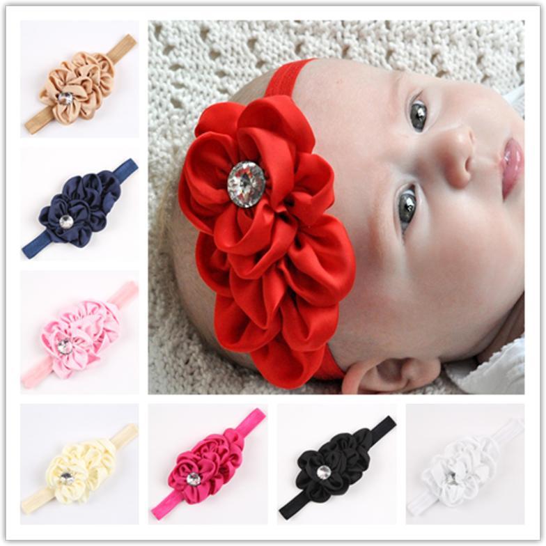 Fashion headbands for baby child elastic ribbon headband hairband 66,accessories fish squama with false diamond retail 1 pcs(China (Mainland))