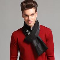 Hongkong PTAH Brand New Men's Winter Classical Plaid Mulberry silk Scarf Men Scarf Long Pashmina Shawl Drop shipping
