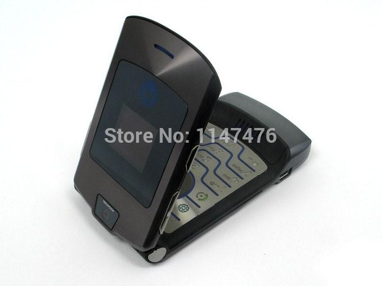 Livraison gratuite original razr v3i 100% téléphone mobile déverrouillé téléphone portable anglais& russe. support de clavier