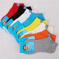 A221 summer big monkey male sock 100% cotton socks male socks summer sports 100% cotton sock slippers thin