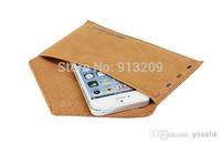 YOSA02 2014 New Arrival Samdi vintage envelope pu mobile phone liner bag for SAMSUNG n7100 i9220 i9300 n700 s4.free shipping