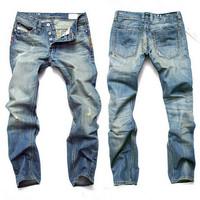 Fashion men jeans denim straight jeans for men casual brand pants good quality