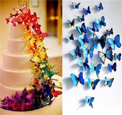 Online kopen wholesale 3d vlinder muur decor uit china 3d vlinder muur decor groothandel - Muur deco volwassen kamer ...